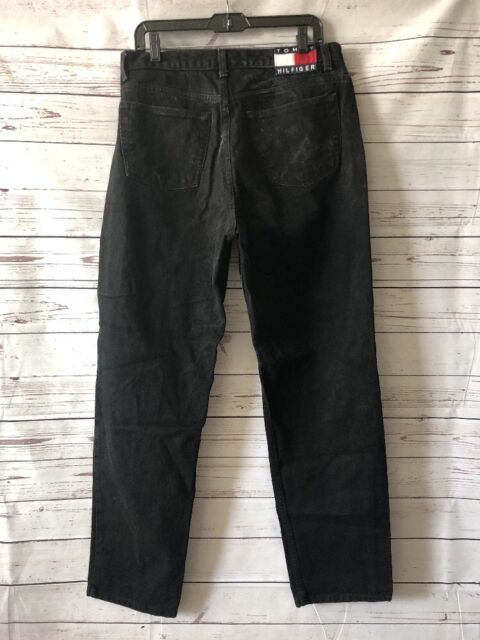 24292547 Tommy Hilfiger Perfect T Jeans Tapered Leg Mom High Rise Black Faded  Vintage 16