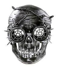 Silver Vengeful Steam Punk Pirate Plastic Mask Masquerade Costume Halloween