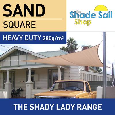 Rectangle SAND 2 m x 3 m Shade Sail Sun Heavy Duty 280GSM Outdoor BEIGE 2x3m