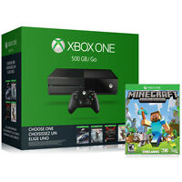 Microsoft Xbox One 500GB Gaming Console Name Your Game + Minecraft Video Game