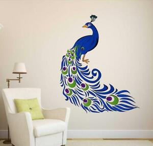 5519706a006 Colourful Peacock Wall Sticker Art Vinyl Decal Mural For Home Room ...
