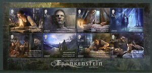 Jersey-2018-neuf-sans-charniere-Mary-Shelley-Frankenstein-8-V-M-S-Writers-Literature-timbres