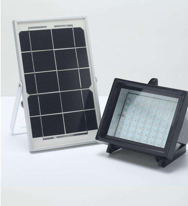 Bizlander 60 LED Solar Luz Solar Luz de inundación al aire libre luz de identificación comercial