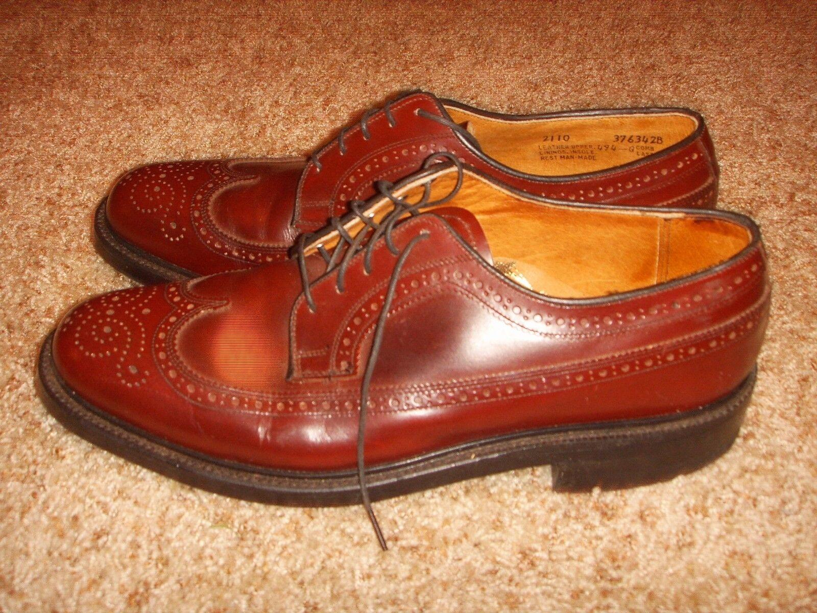 Stuart McGuire Spring Step Size Cordovan Wingtip Oxford Brogues Mens Size Step 10M 2b7e8c