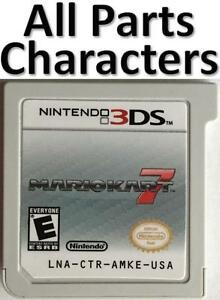 Details about Mario Kart 7 Unlocked All Characters Golden Kart Parts Wheels  Gliders Cups 3DS