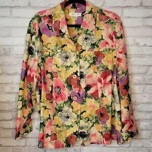 Coldwater Creek 2X floral lightweight jacket shirt