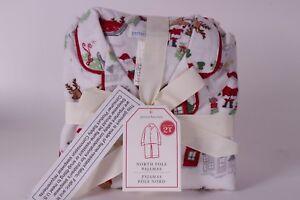 Nwt Pottery Barn Kids Sz 2t North Pole Pajamas Flannel Pj