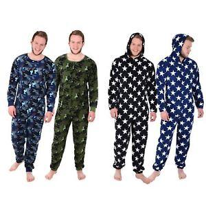 Jump Pjs un Sleep Nightwear Uomo in Pile Suit pezzo Accogliente Tutto Pigiama qwS06