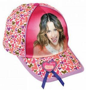 La imagen se está cargando Disney-Violetta-Gorra-de-Ninos-con-corazones 80206cd9db7