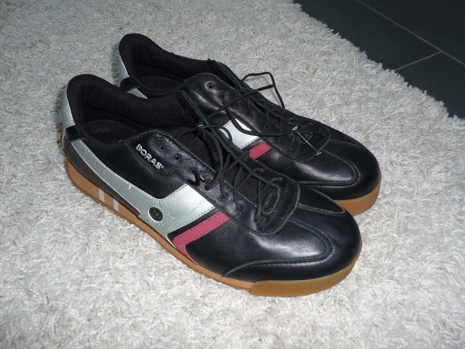 Sportlich elegante Sneaker Sportschuhe Boras Gr.47 Goal Classic Deluxe NEU Leder