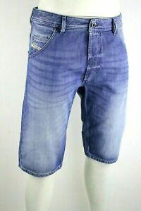 DIESEL-KROSHORT-0839C-Jeans-Short-Shorts-Hose-kurze-Hose-Jeansshort-Blau-W29