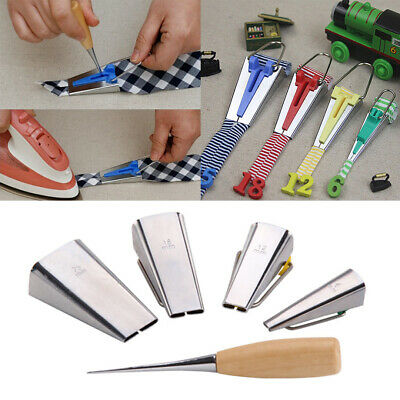 Craft Clips Awl Quilters Pin Bias Tape Maker Folder Kit DIY Sewing Fabric Bias Tape Maker Set for Quilting Binding Tool Set 6MM//12MM//18MM//25MM