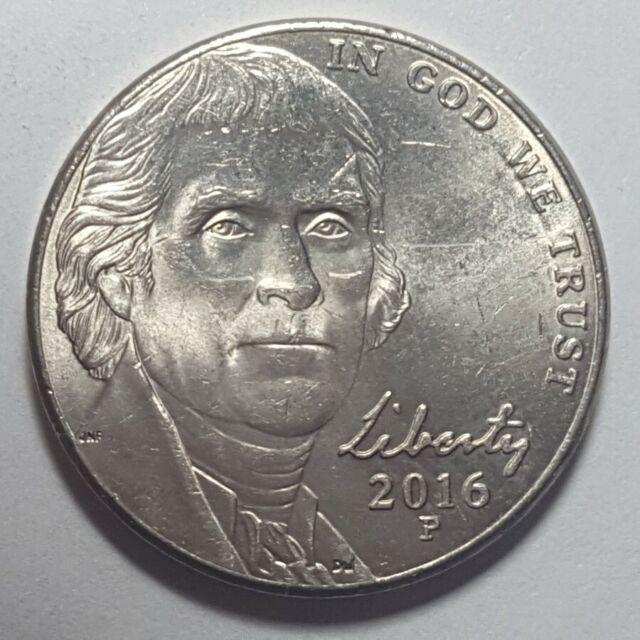 #154 2018-P Jefferson Nickel Error coin Large CUD Rev @ K9 Very Nice Error