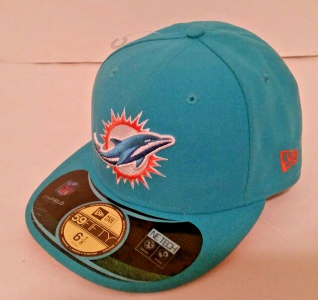 Miami Dolphins NFL On Field New Era 59Fifty Fitted Cap Hat Men Size 6 7  5318f1c18