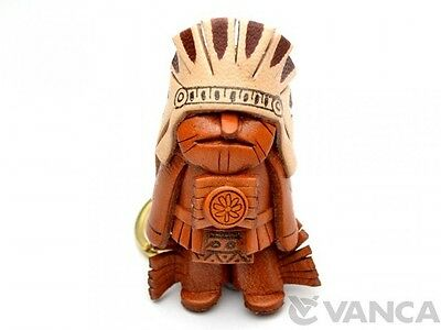 Native American Handmade 3D Leather (L) Keychain *VANCA* Made in Japan #56825