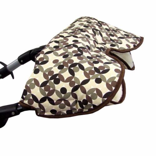 HANDMUFF MUFF Handwärmer Handschuh für Kinderwagen mit LAMMWOLLE 10 Farben