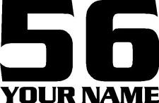 Mx Racing Number Plate Decal Motocross Sticker Atv Bmx Serpantine Set Of 3
