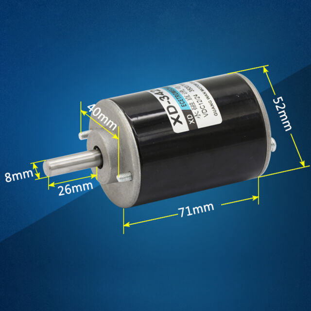 XD-3420 12/24V 30W Permanent Magnet DC Motor High Speed CW/CCW For DIY Generator