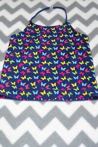M-amp-s-GIRLS-NAVY-BLUE-BUTTERFLY-PRINT-HALTERNECK-TANKINI-TOP-AGE-12-YRS