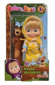 Masha-e-orso-Bambola-morbida-vestitino-giallo-Simba-12-cm
