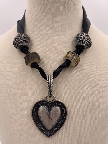*neu* Trachtenkette Herz Silber - Kette Dirndl Tracht Rheuma Lindern