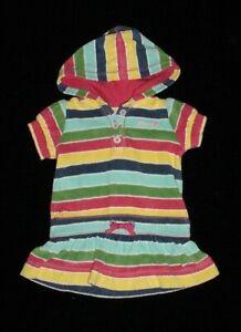 1fefe2b44d996 EUC Baby GAP Girls SPRING BLOOM Striped Terry Swim Cover Up Dress 3 ...