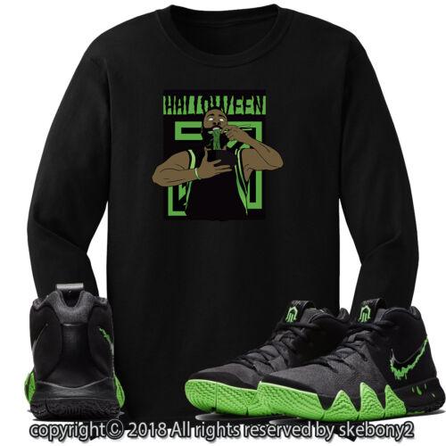 CUSTOM T SHIRT MATCHING STYLE OF Nike Kyrie 4 Halloween Rage Green NK 4-1-11-L