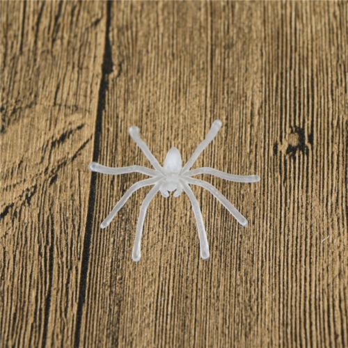 Lots 30pcs Halloween Plastic Black Spider Joking Toys Decoration Realistic P HI