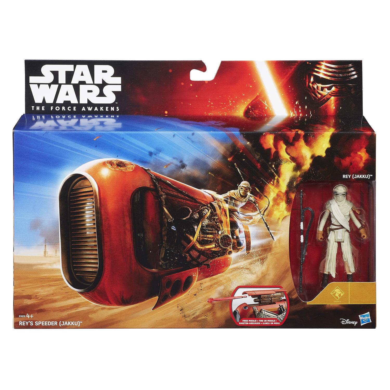 Star Wars Force Awakens Rey's Speeder & 3.75  Rey (Jakku) Figure by Hasbro