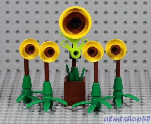 LEGO 5x Sunflower Plants w// Stems /& Leaves Garden House Farm Seeds City Lot