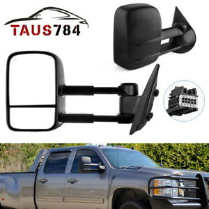 Chrome Towing Mirror 2 Doors handle covers k for CHEVY Silverado 2500//3500 07-13