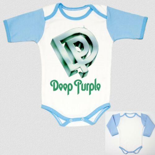 DEEP PURPLE logo BLUE baby body infant children boy toddler newborn