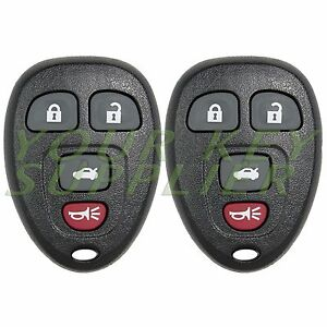2 New Replacement 4 Button Keyless Remote Key Fob for GM