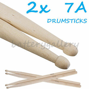 two pair of new maple wood 7a drum sticks drumsticks 635909319269 ebay. Black Bedroom Furniture Sets. Home Design Ideas