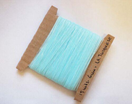 6 mm 15 m Sheer Organza Ribbon-Turquoise clair