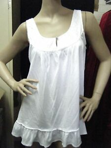 BNWT-Ladies-Top-WHITE-Diamente-Swing-Tank-Size-12