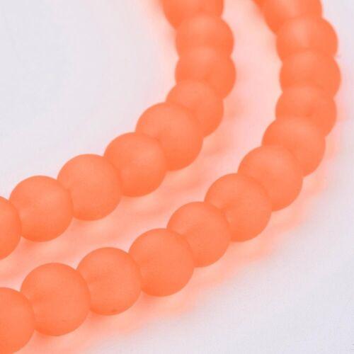 Verre Givré Perles 4 mm rond 180//200 pieces