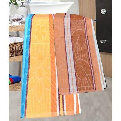 Bath Towel (Assorted Colors & Design) - Pack Of 2