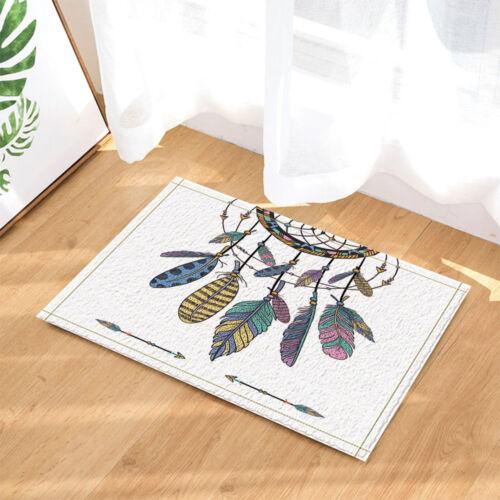 Colorful feather arrows bathroom Non-Slip Outdoor Indoor Front Door Mat 40*60CM