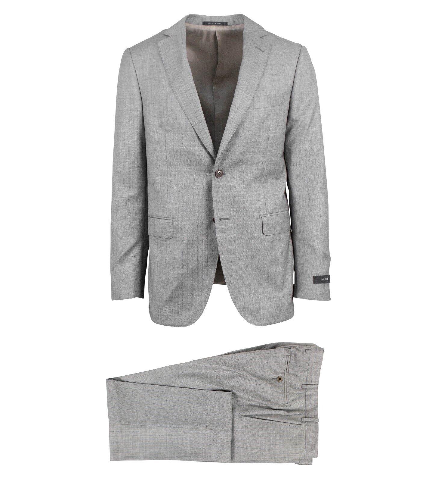 NWT PAL ZILERI grau Stripe Wool Two Button Suit Größe 50/40 R Drop 6