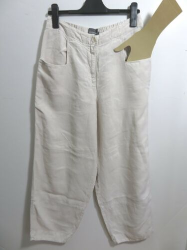 pantalon lin Lagenlook Arty Quirky beige ballon taille Oska clair Boho 100 3 XEffw6