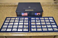 Franklin Mint Bicentennial History of the US 1776-1886 50 Sterling Silver Ingots