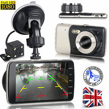 1080P HD Car DVR Dual Lens Camera Video Recorder Rear view Dash Cam G-sensor UK
