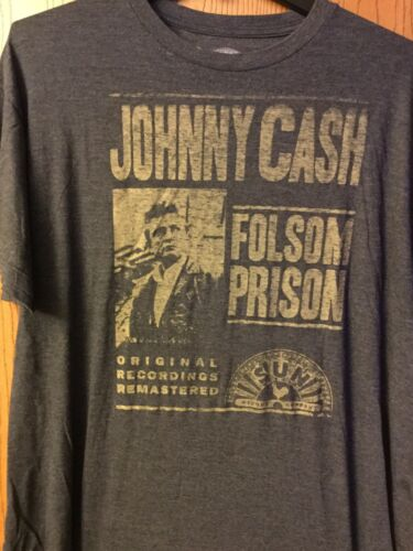 Johnny Cash.  Shirt.   Gray.   2XL