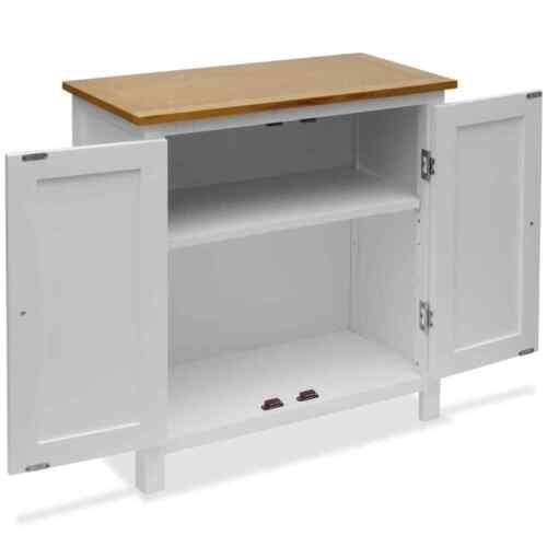 "vidaXL Solid Oak Wood Cupboard 27.6/"" Sideboard Side Cabinet Storage Display"