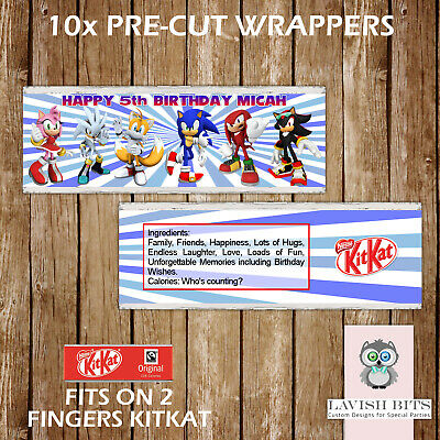 PAW PATROL PERSONALISED KITKAT CHOCOLATE WRAPPERS CHILDREN PARTY FAVOUR GIFT BAG