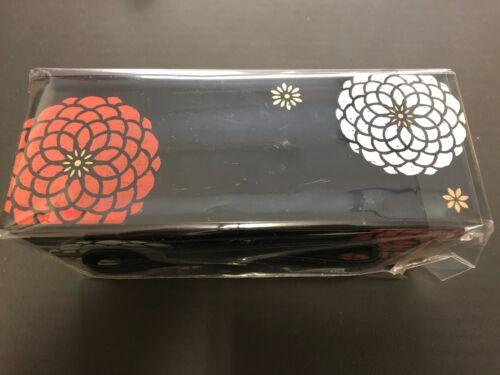 Hakoya Déjeuner Bento Box 50463 slim noir Hyakka Momoka fleur made in Japan