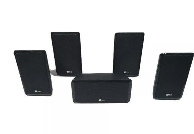 LG 5 Surround Sound Speakers 4 Satellite SB95SA-S/SB95SA-F + Center SB95SA-C 4-4