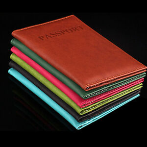 New-Passport-Holder-Protector-Cover-Wallet-PU-Leather-Organizer-Card-Case-Color