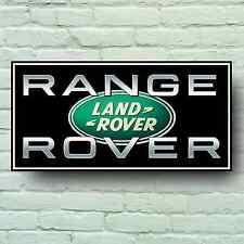 LANDROVER WITH RANGE ROVER LOGO 2FT GARAGE SIGN WALL PLAQUE SPORT VOGUE EVOQUE